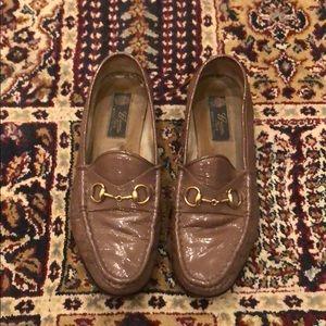 Vintage Gucci Horsebit Mauve Loafers Size 38